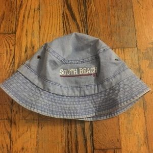 Accessories - Denim south beach Florida bucket hat